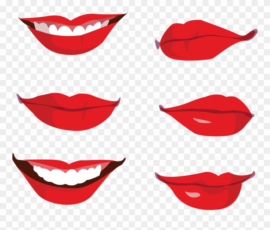 Smile Lips Vector Png Clipart (#1211109).