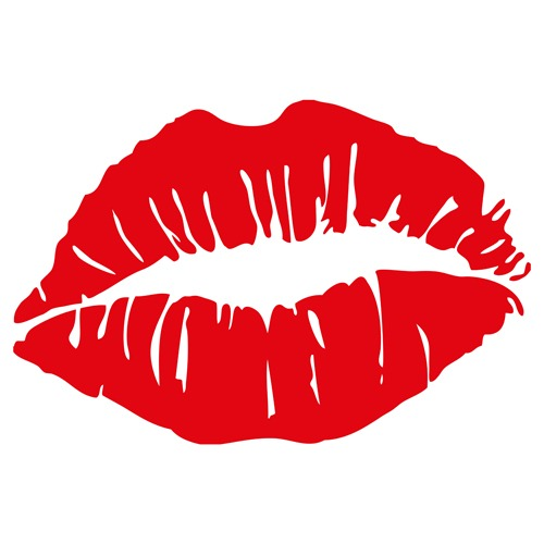 Woman lips vector material 04 download.