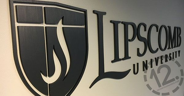 Anodized Aluminum Logo Sign for Lipscomb University in.