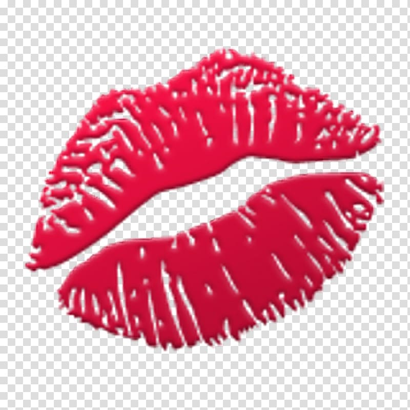 Red lips illustration, Emoji Kiss Sticker Lip, kiss smiley.