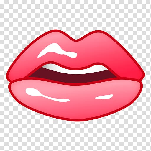 Lip Mouth Emoji Smile Tongue, mouth transparent background.