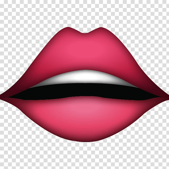 Emoji Lip Kiss Sticker Mouth, lips transparent background.