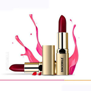 Popular matte lipstick private label custom logo to makeup cosmetics  lipstick.