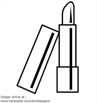 Lipstick Clipart Black And White.