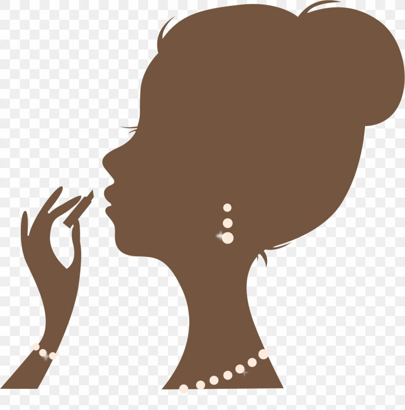 Silhouette Female Woman Cosmetics, PNG, 1298x1315px.