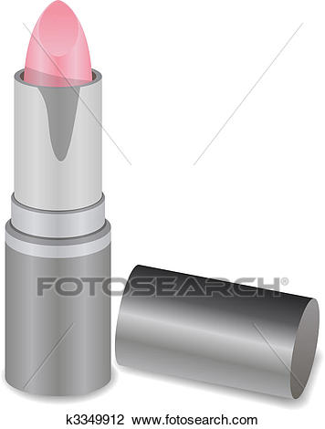 A Cute Lipstick Tube isolated on white background Clipart.