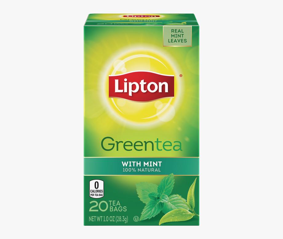 Green Tea Mandarin Orange Lipton Tea Bag.