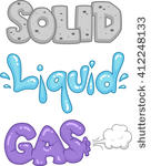 442 solid liquid gas clip art.