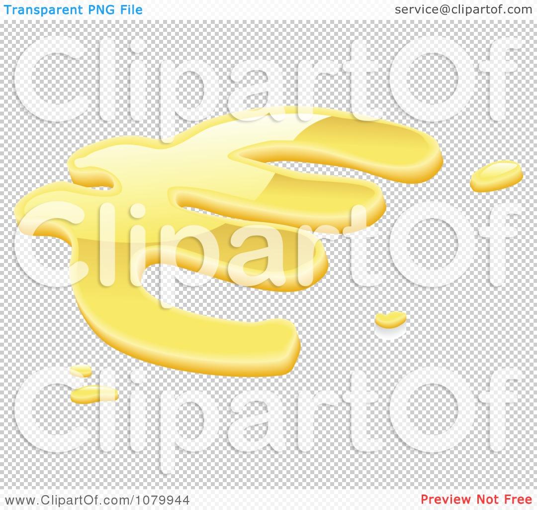 Clipart 3d Liquid Gold Euro Symbol.