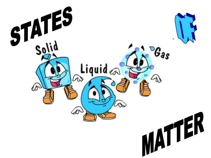 Solid liquid gas clipart.