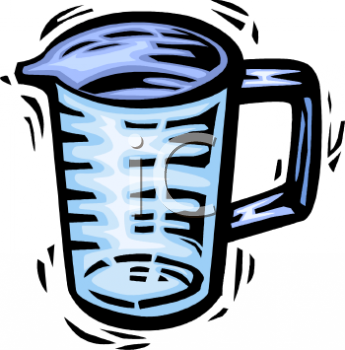 Royalty Free Clip Art Image: Liquid Measuring Cup.