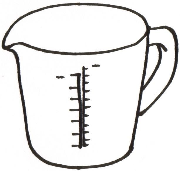 Measuring Cups 5 Spoons 6 Liquid Ingredient Clipart.