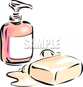 Liquid soap clipart black and white.