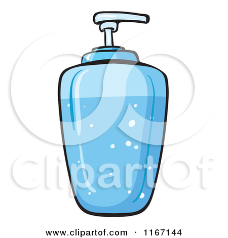 Cartoon of a Liquid Soap Dispenser.