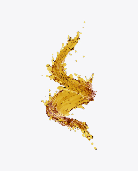 Download Twisted Liquid Splash Transparent PNG on Yellow.