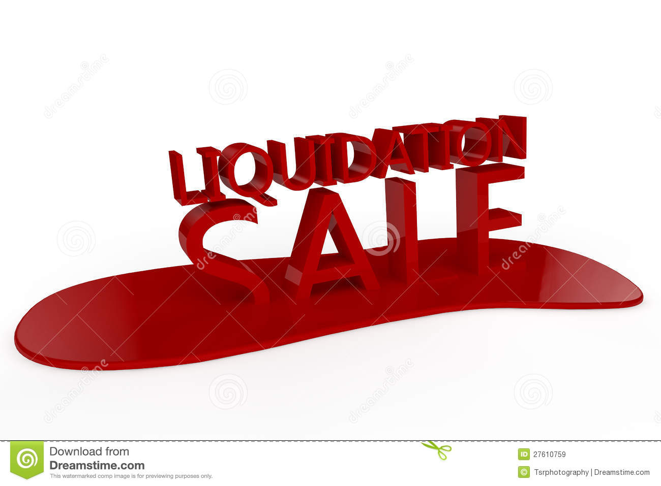 Liquidation Sale Royalty Free Stock Images.