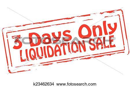 Clipart of Liquidation sale k23462634.