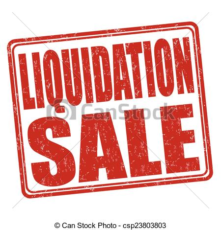 Vector Clipart of Liquidation sale stamp.