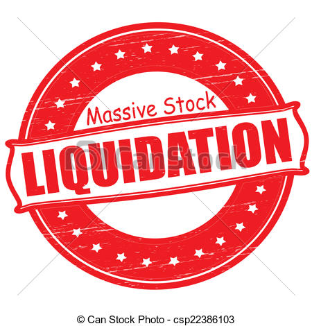 Vector Clipart of Massive stock liquidation.