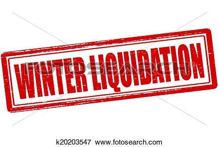 Clip Art of Winter liquidation k20203547.