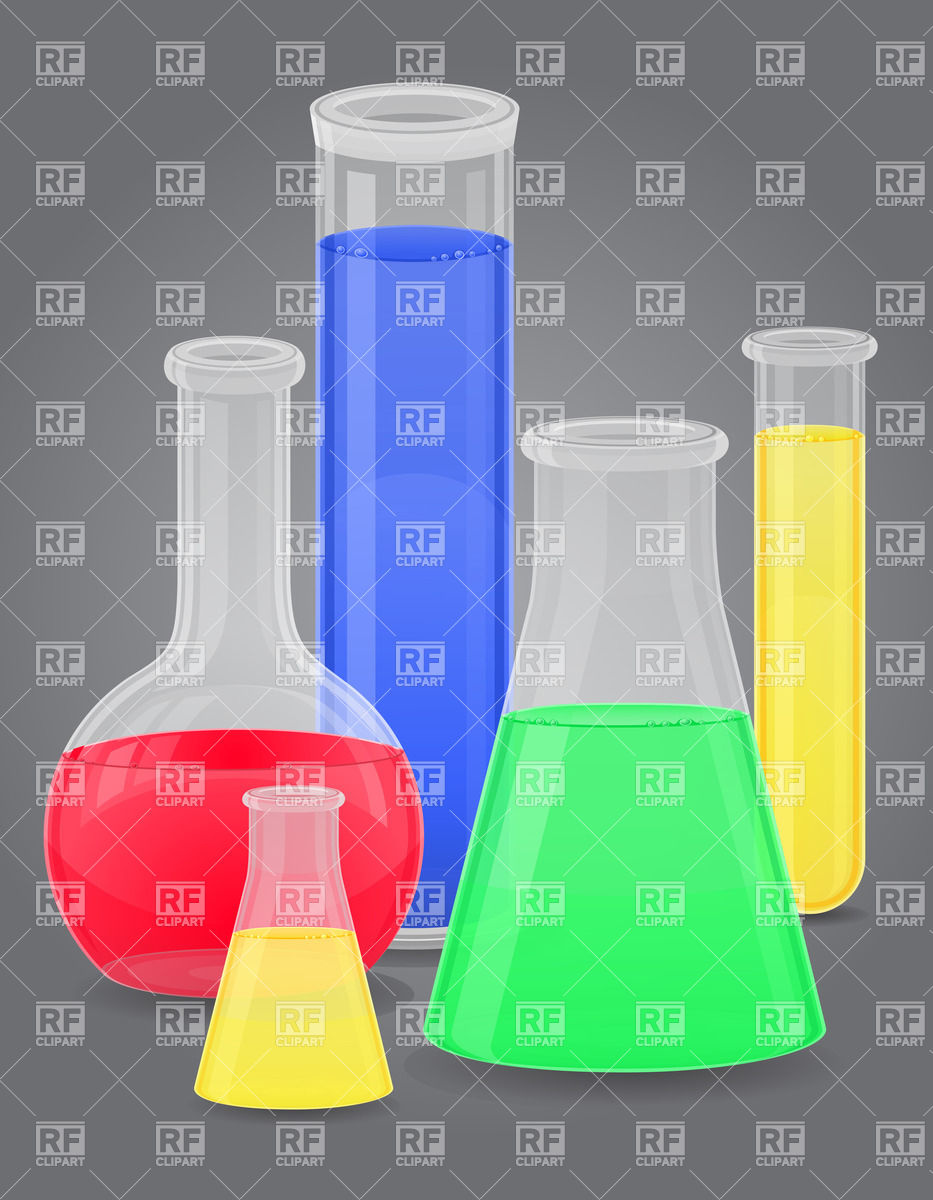 Test tubes with color liquids Vector Image #25802.