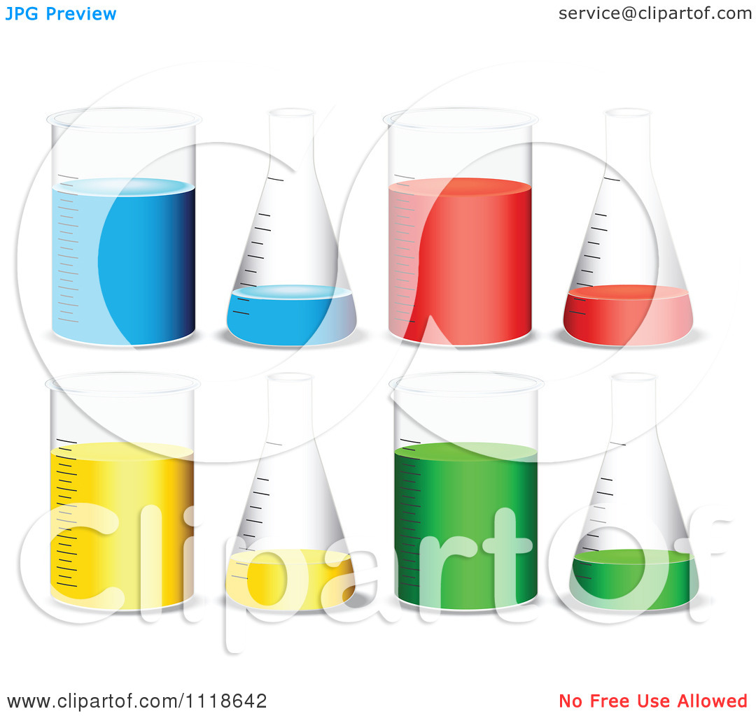 Vector Clipart Of Beakers And Science Laboratory Flasks With.