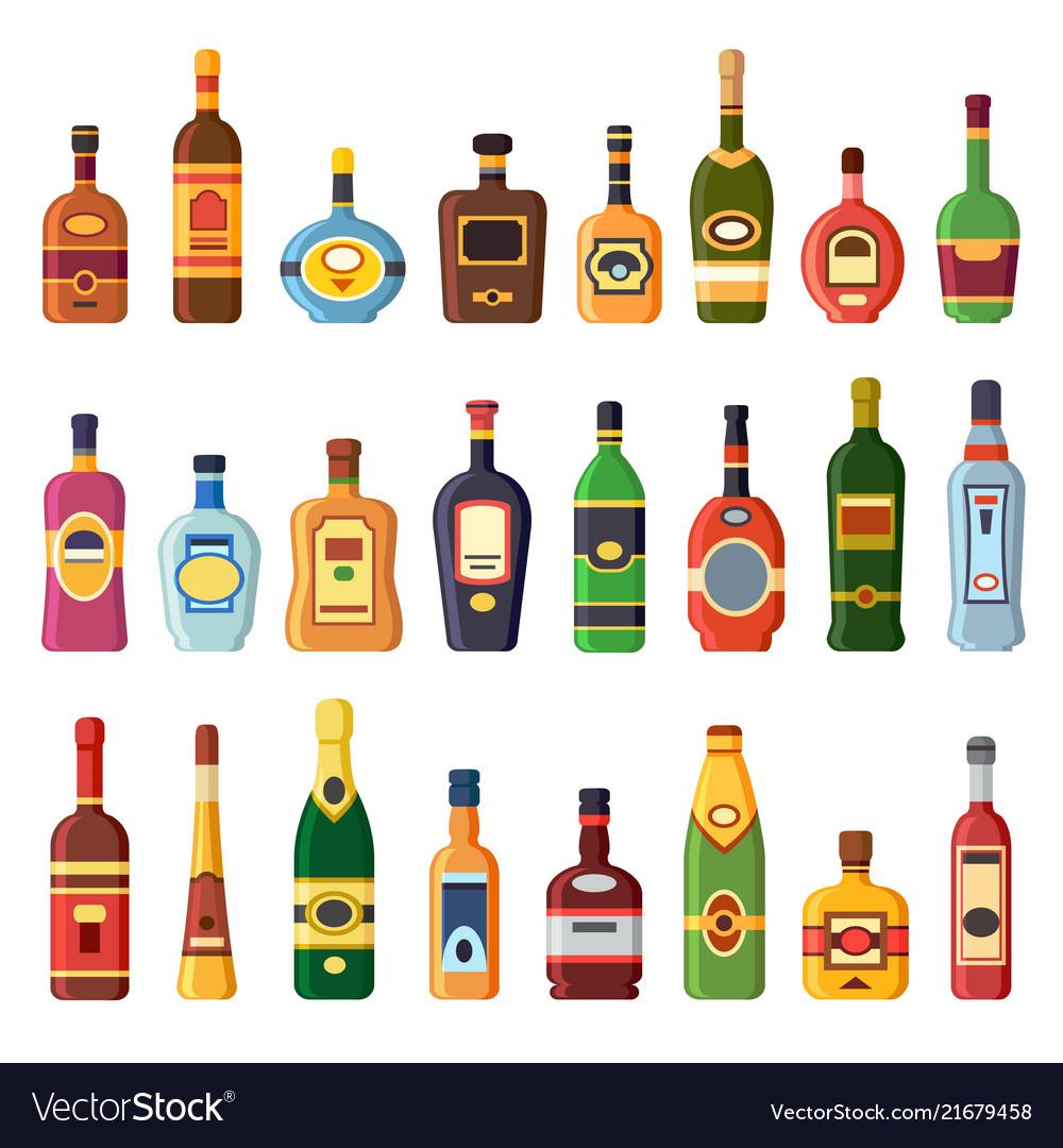 Alcohol bottles alcoholic liquor drink bottle.