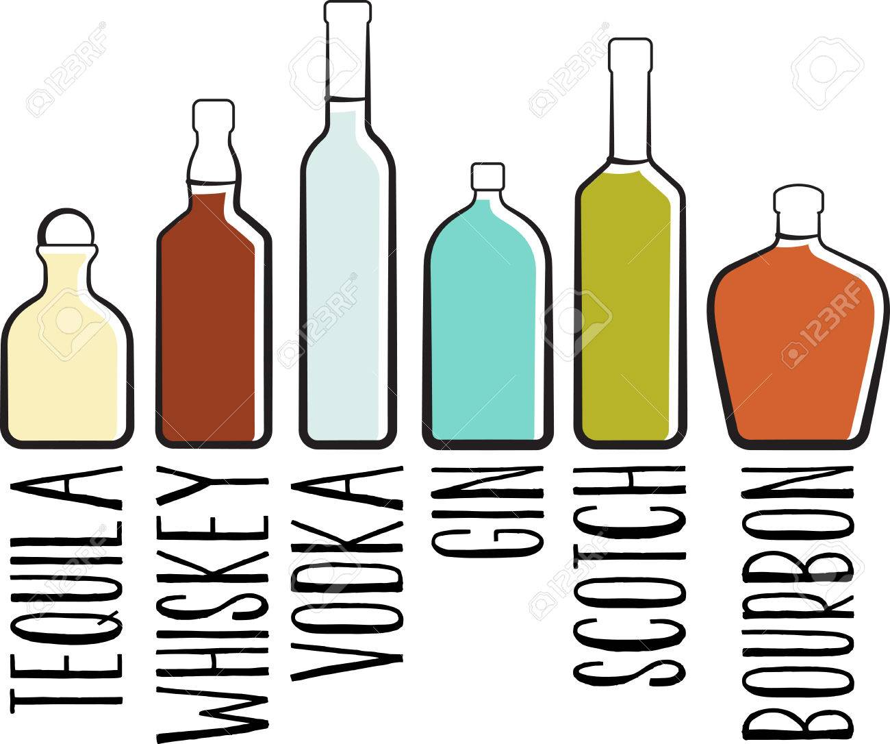 Liquor bottles clipart 5 » Clipart Station.