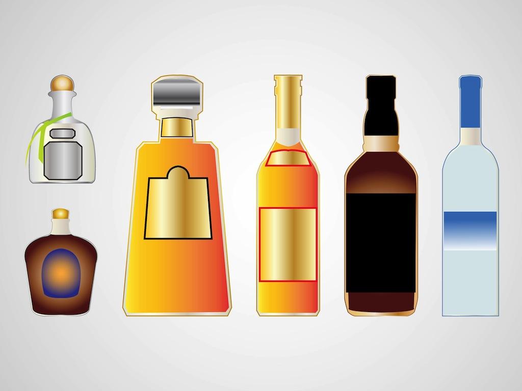 Alcohol Bottle Clipart.