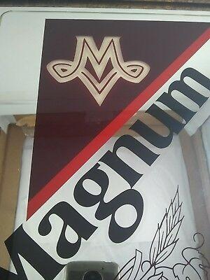 VINTAGE MILLER LOGO Magnum Malt Liquor Beer Mirror Sign.