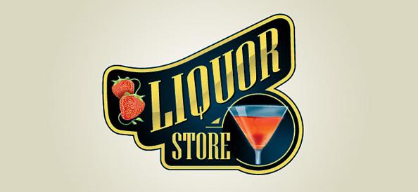 Free Liquor Store Logo Design Mockup in PSD.