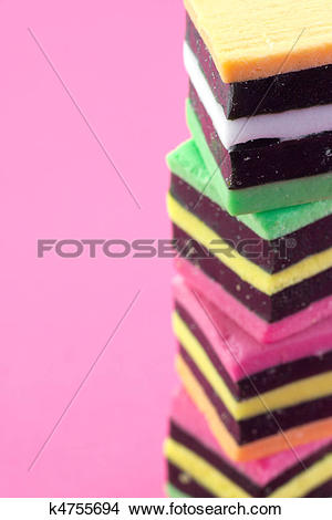 Stock Photo of Liquorice allsorts. k4755694.