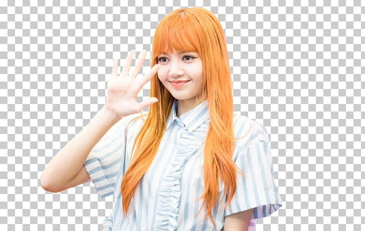 Lisa BLACKPINK Long Hair Bangs Hair Coloring PNG, Clipart.
