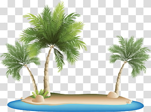 Resort Island transparent background PNG cliparts free.