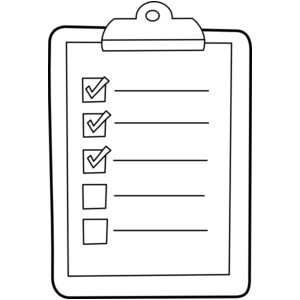 To Do List Clipart Black And White.
