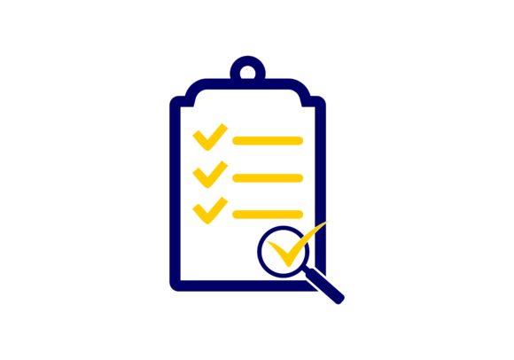 Survey, Check List Icon Logo.