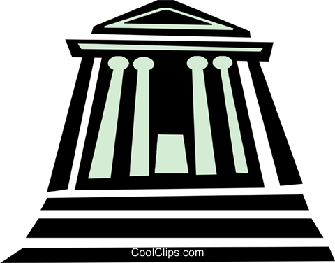 financial institution Royalty Free Vector Clip Art.
