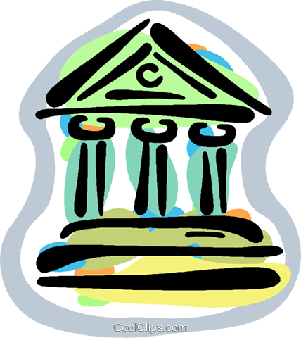 financial institutions Royalty Free Vector Clip Art.