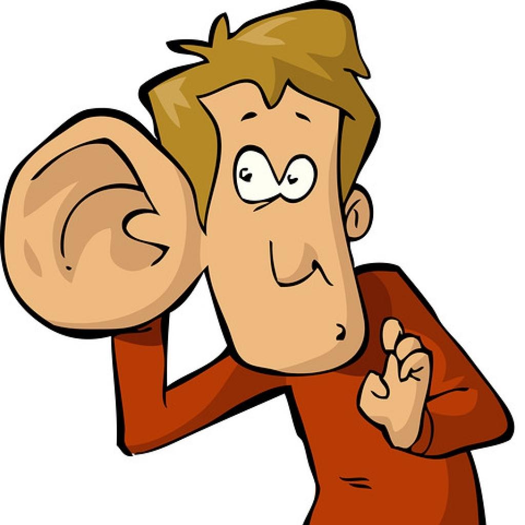 Listening clipart free.