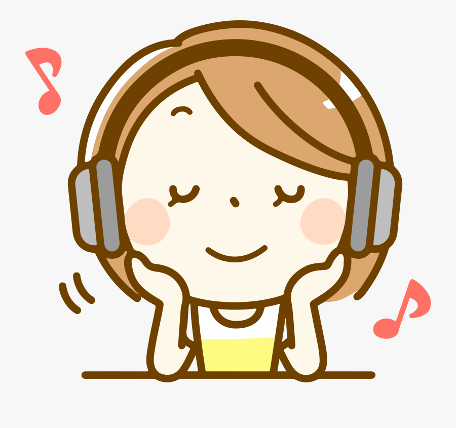 Clip Art Girl Listening To Music Clipart.