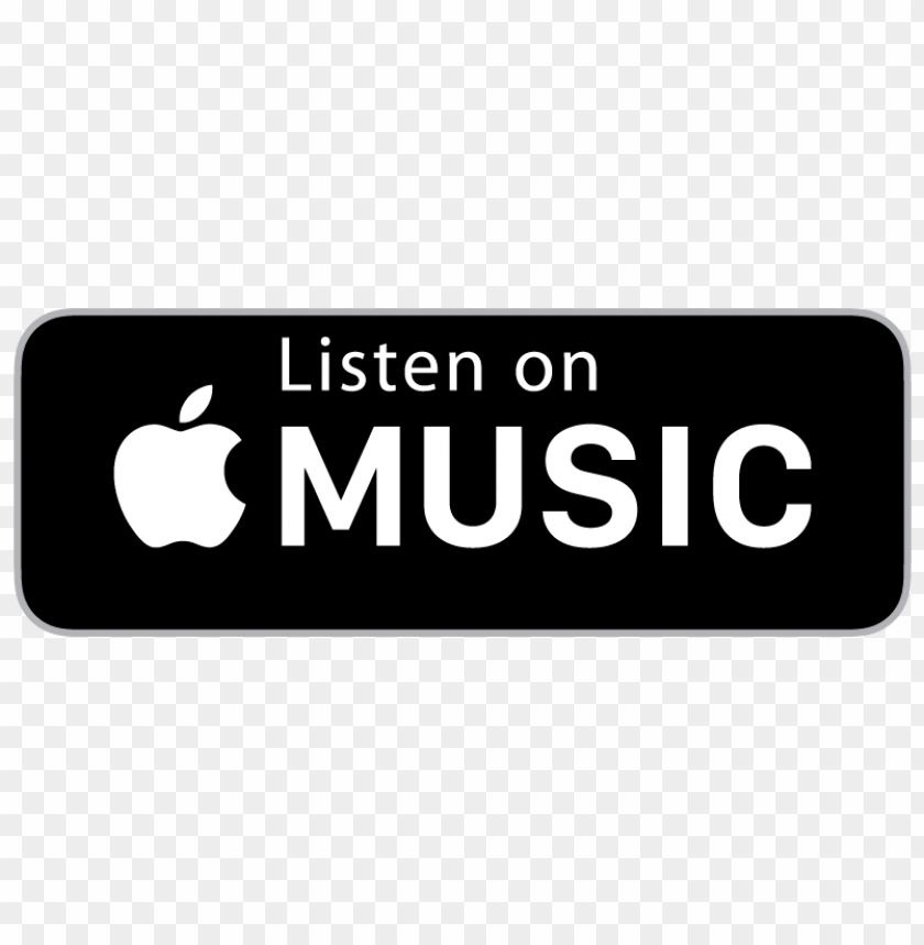listen on apple music badge vector.