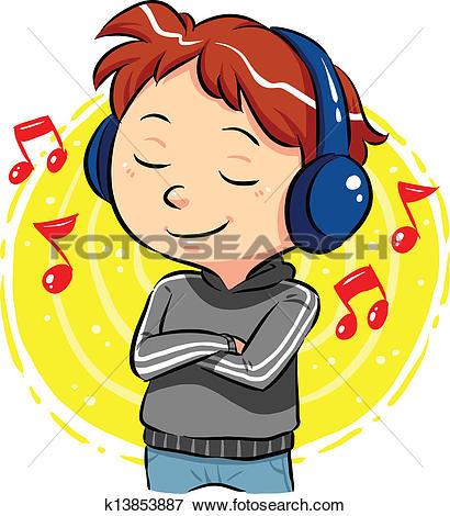 Clipart of Listening emoticon k15019591.