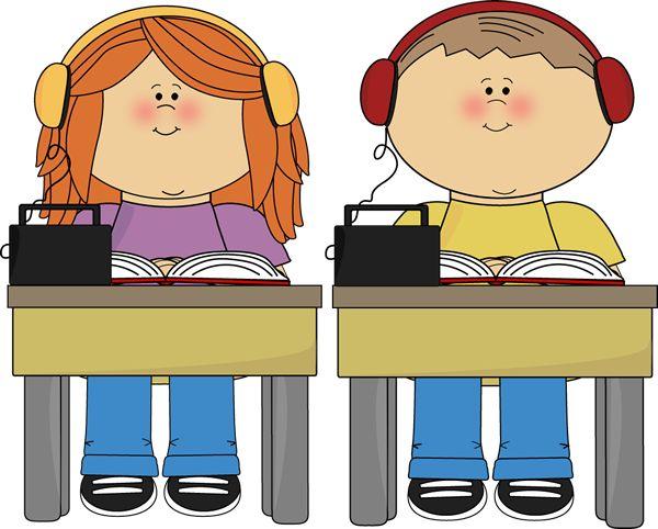 Kids On Ipad Clipart.