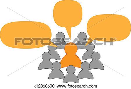 Clipart of speaker or teacher and listeners k12858590.