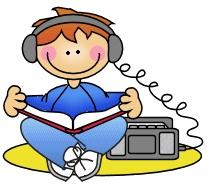 Listening Station Clipart.