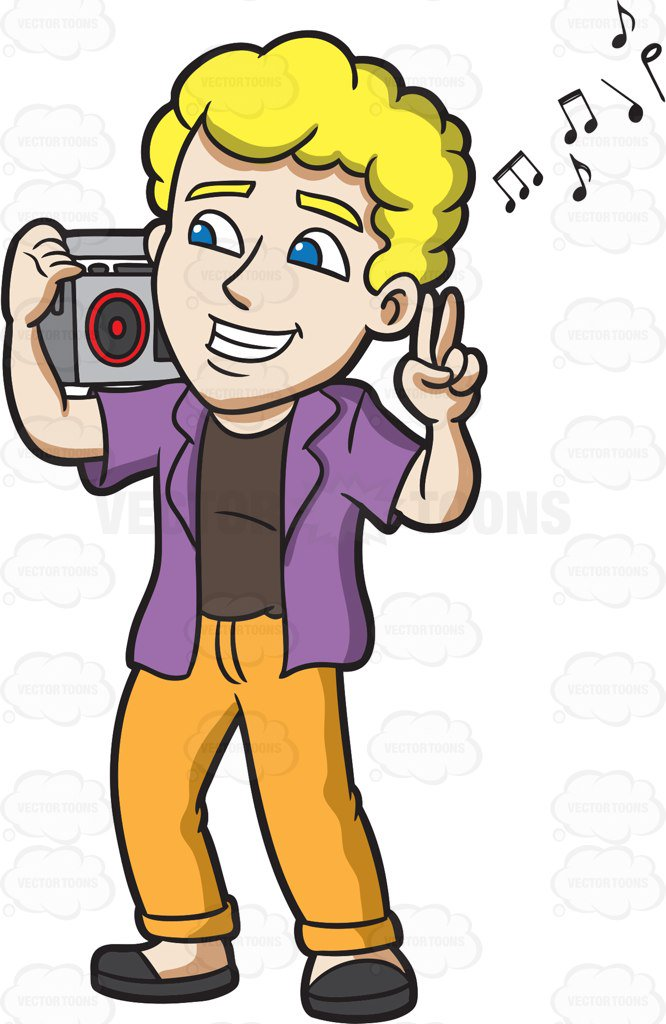Listening to radio clipart 1 » Clipart Station.