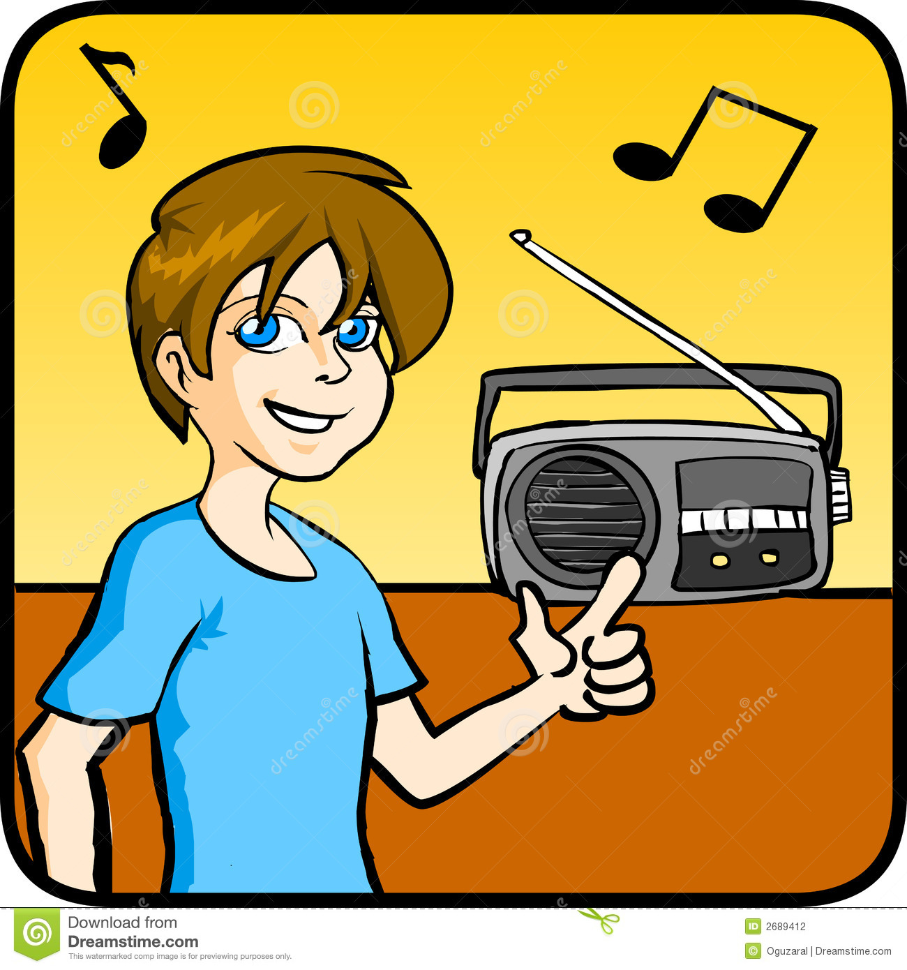 Listening to radio clipart 7 » Clipart Station.