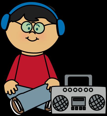 Radio Person Cliparts.