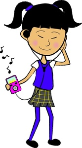 Listening to music clipart » Clipart Station.