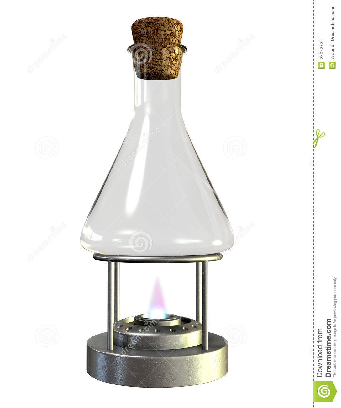 Bunsen Burner And Glass Jar Royalty Free Stock Images.